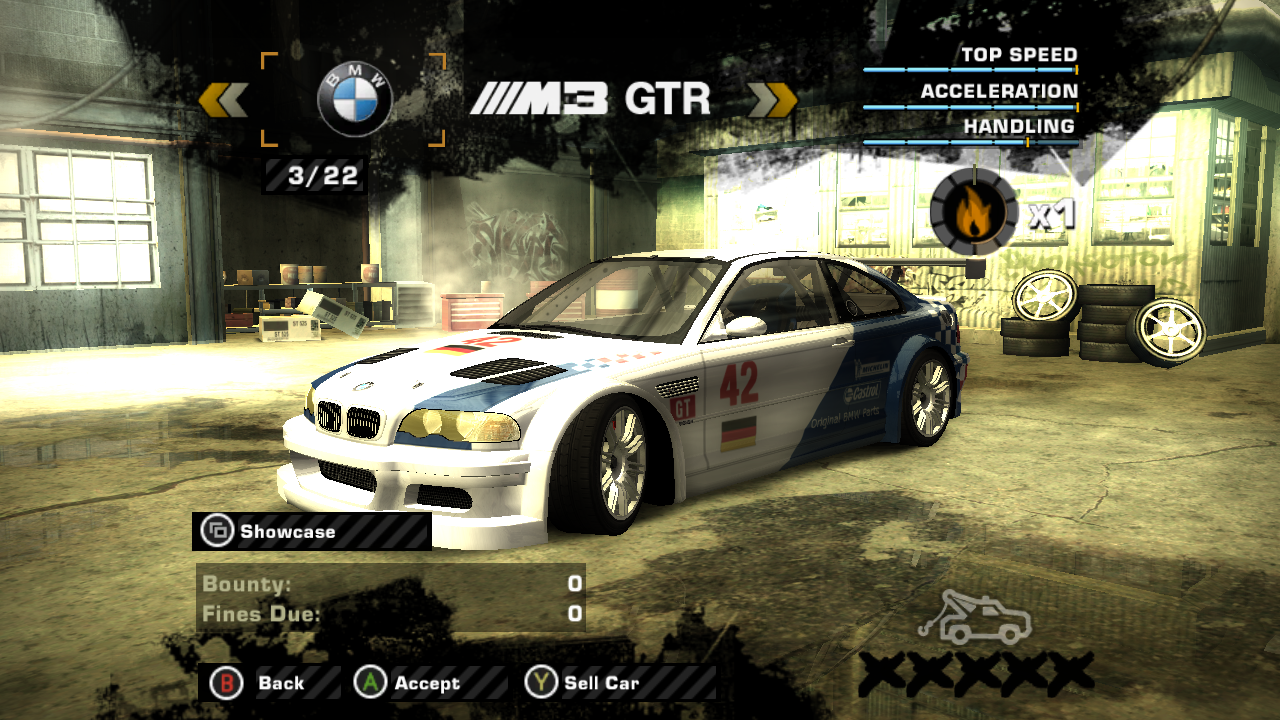 NFSMods - NFS: Most Wanted - #42 BMW Factory Team Livery for BMW M3