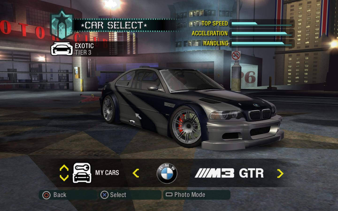 Nfsmods Nfs Carbon Upgradeable Bmw M3 Gtr E46 Race