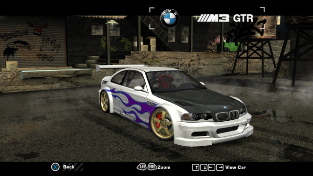 nfsmods fully customizable bmw m3 gtr