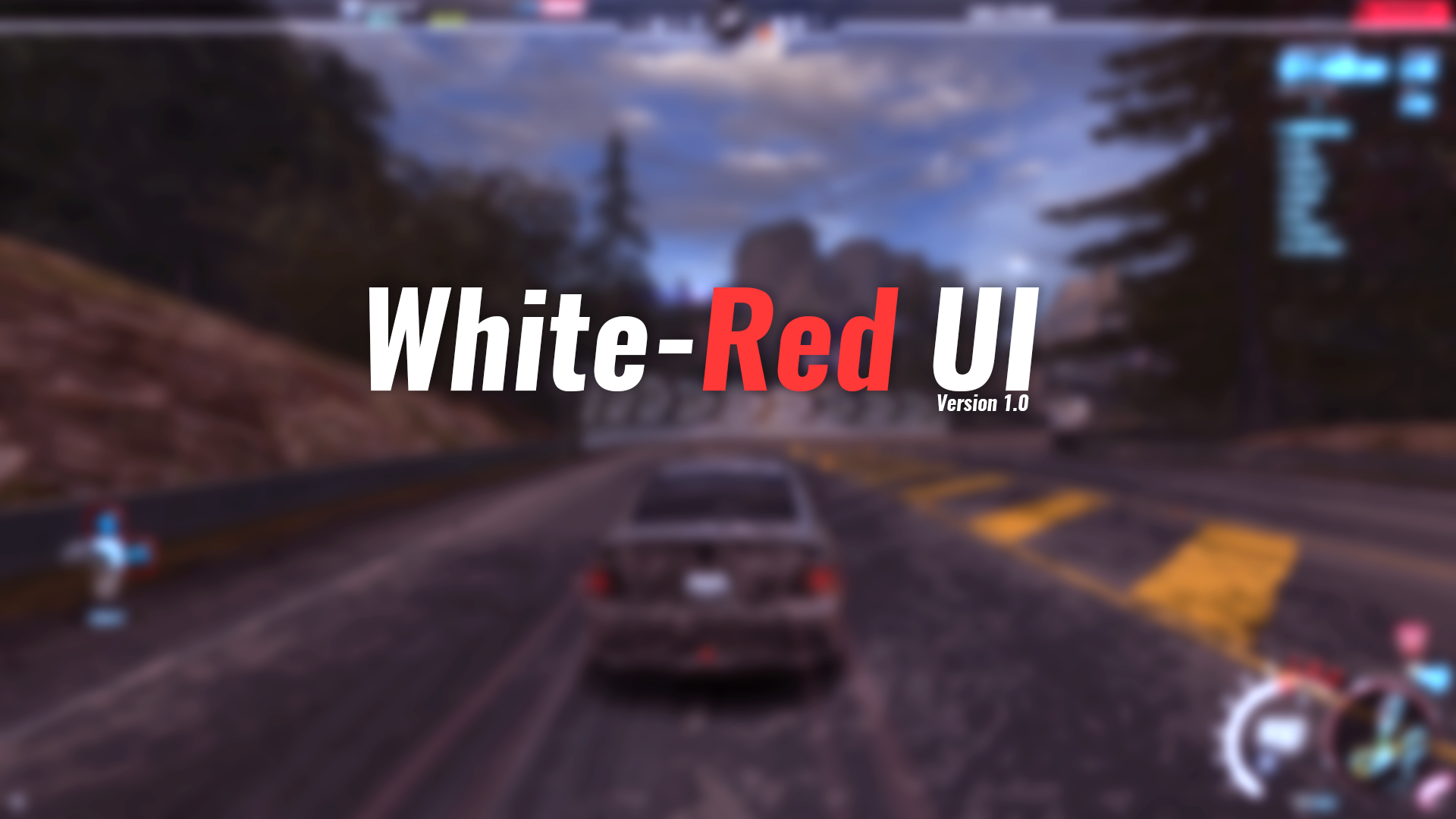 NFSMods - White-Red UI for Need for Speed World