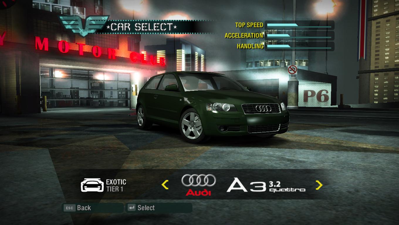 Nfsmods Nfs Carbon Addon Car Audi A3 3 2 Quattro