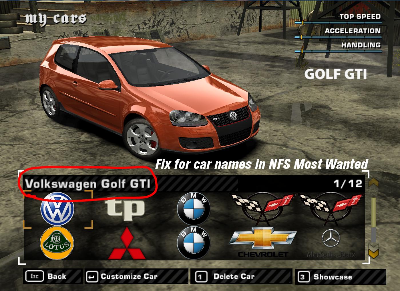 Nfsmods Nfs Most Wanted Car Name Fixes Bonuses
