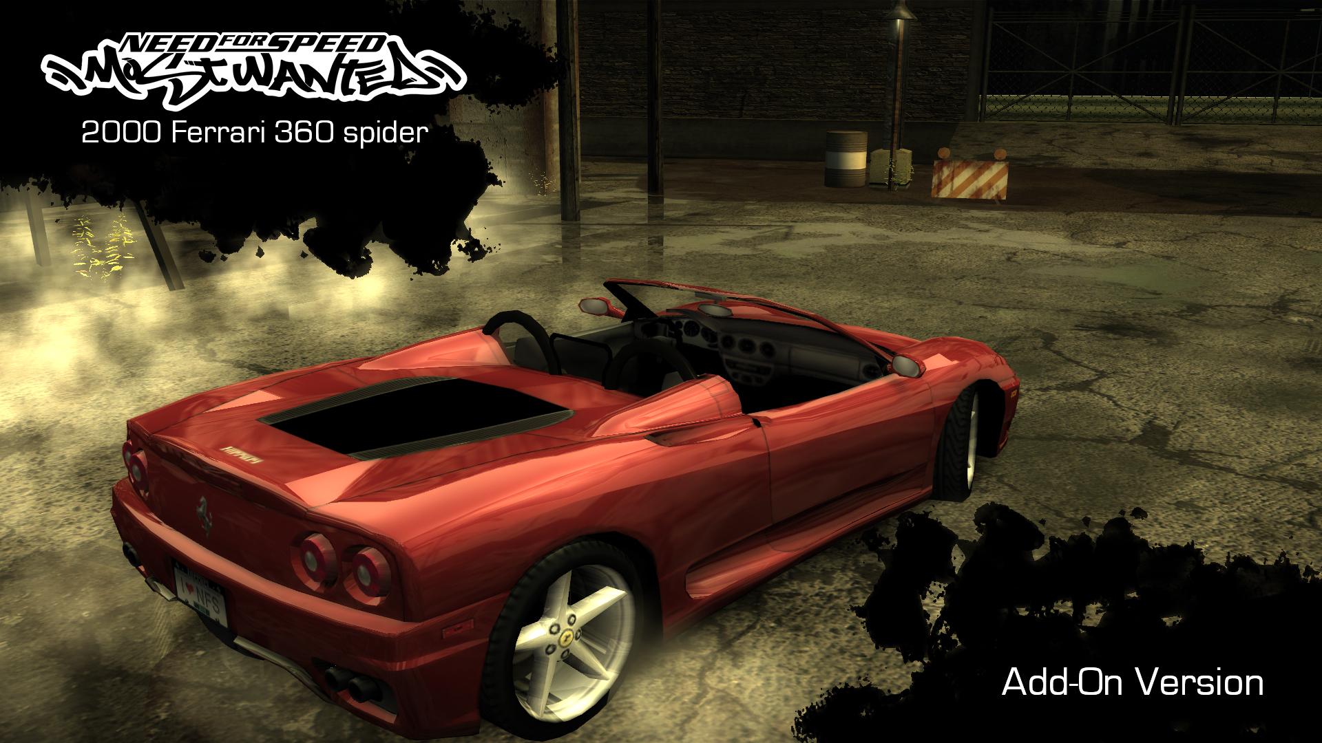 Nfsmods 2000 Ferrari 360 Spider Add On