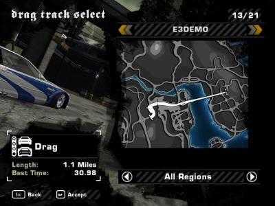 Nfsmods Need For Speed Most Wanted E3 Demo Drag Race