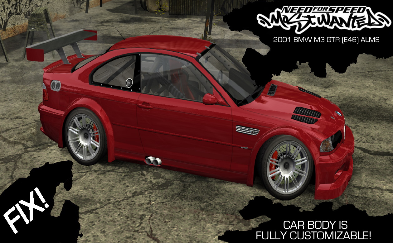 Nfsmods Need For Speed Most Wanted 2001 Bmw M3 Gtr E46 Alms
